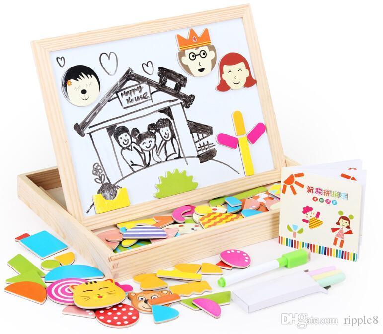 новые магнитные бойцовский музыку. Пазлы, Блокнот могут быть двойного назначения. Детские дошкольные образовательные деревянные игрушки.