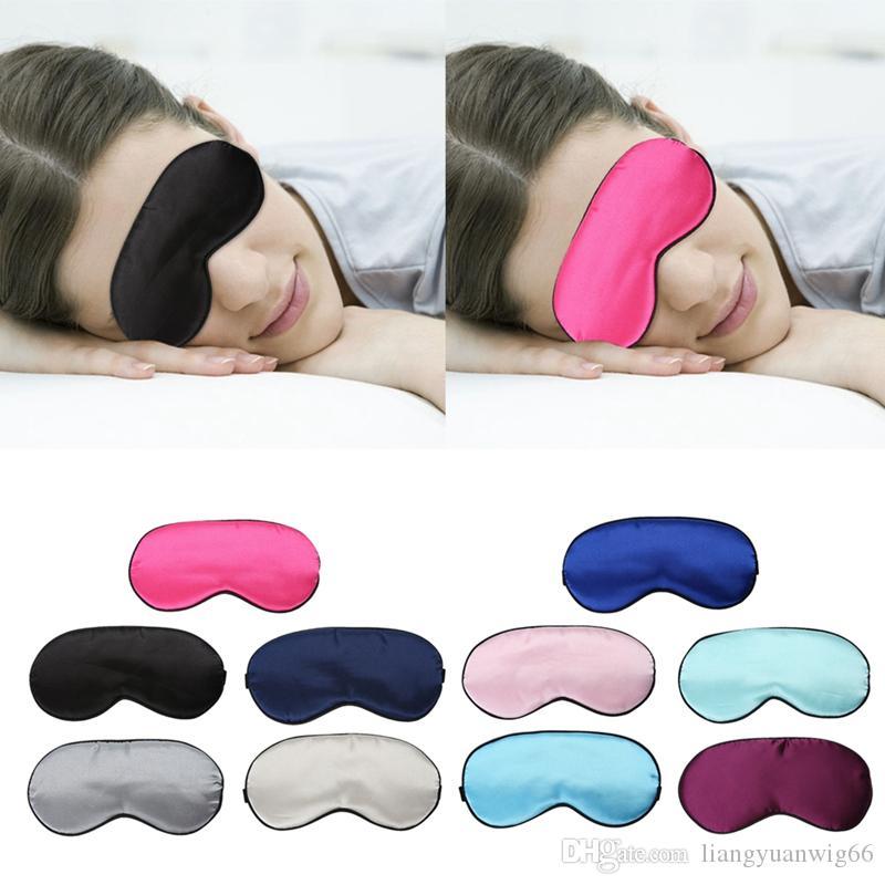 1pc Ultra-soft Breathable Fabric Eyeshade Sleeping Eye Mask Portable Travel Sleep Rest Aid Eye Mask Cover Eye Patch Sleep Mask