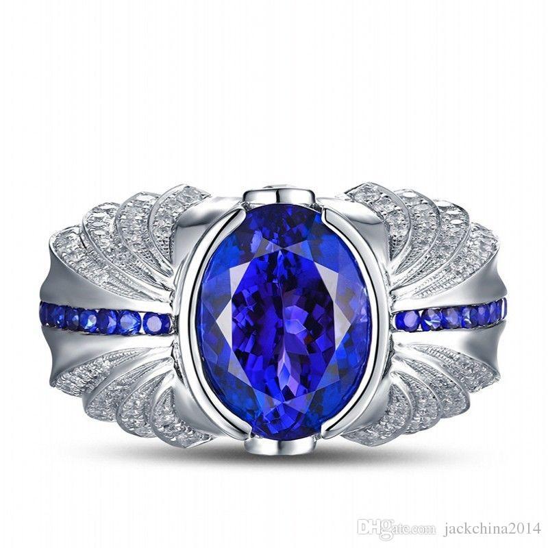 Victoria Wieck Marke Handgemachte Mens Türkis Schmuck 4ct Sapphire Cz Diamant-925 Sterlingsilber-Hochzeits-Band-Ring-Geschenk mit dem Kasten