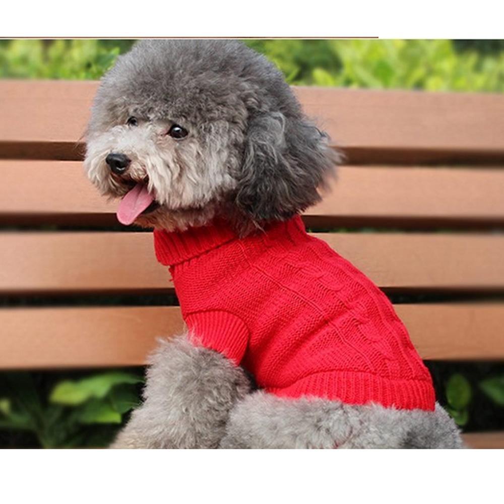 الجملة-كلب صغير جرو القط الدافئة سترة الشتاء ملابس ازياء الملابس معطف متماسكة