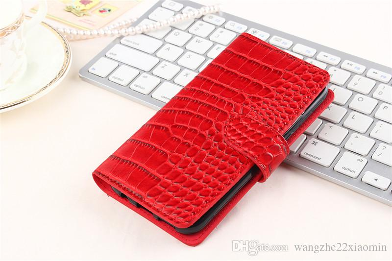50pcs Luxury Wallet Flip Pu leather Case Cover for iphone 7 4.7inch htc Nexus Marlin Cellphone Case 3D Crocodile Cell Phone Bag