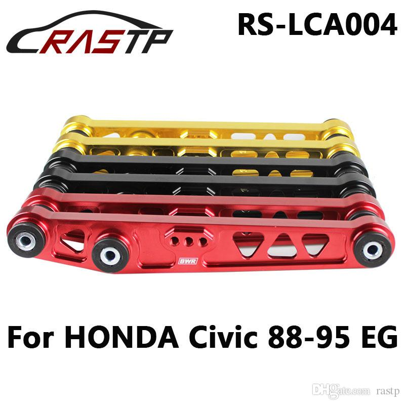 Red Rear Lower Control Arm Subframe Brace Tie Bar For 92-95 Civic 94-01 Integra