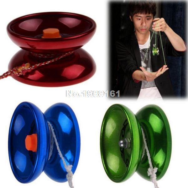 Cool Aluminum Design Professional YoYo Ball Bearing String Trick Alloy Kids B0IT