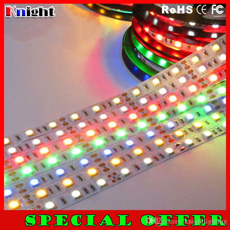 special offer 12v smd3528/3014/2835/5050 led strip light 5m white/warmwhite/red/yellow/blue/green strip light non waterproof 500m lot