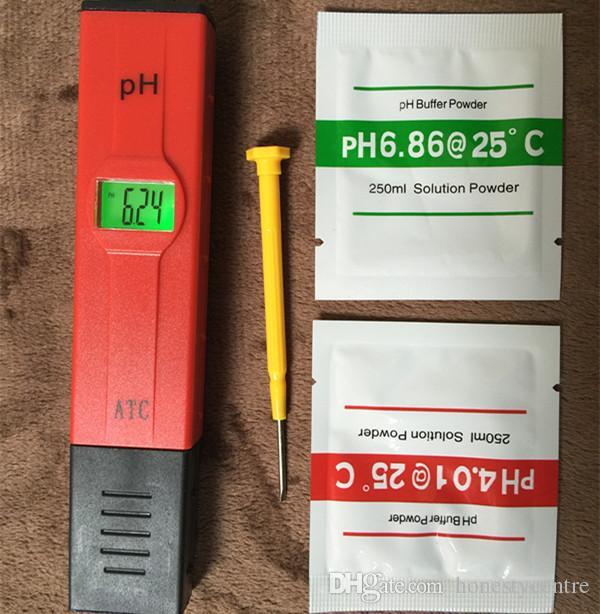Горячие продажи Цифровой LED PH Meter Pocket Pen монитор качества воды Тестер 0-14 мера для Аквариума или лаборатории