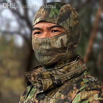 Wholesale-New Snow Camo Outdoor Bicycle Bike Cycling Motorcycle Ski Hats Balaclava Hunting Paintball Tactical Protection Full Face Mask