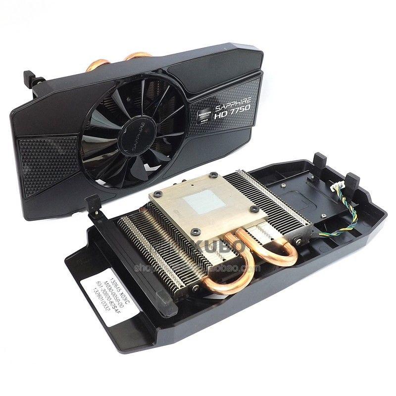 New Original for Sapphire HD7750 7770 graphics fan 43mm 2 heat pipe heat pipe radiator 4 pin mute
