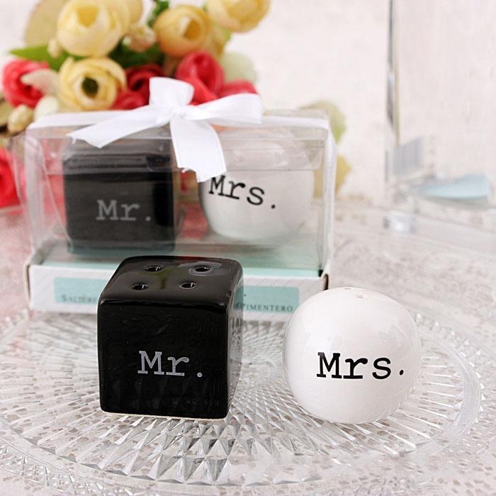 Куб цилиндр Керамический г-н г-жа соль и перец шейкеры белый черный шейкер кухня инструменты партия выступает в пользу свадьбы подарок 100 компл. (2 шт./компл.)
