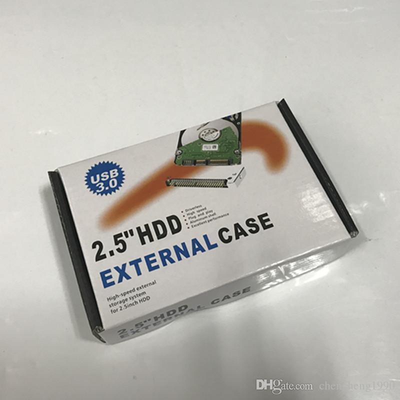 USB 3.0 2.5 بوصة HDD حالة القرص الصلب مايكرو B الخارجية محرك ضميمة مع حزمة البيع بالتجزئة 100pcs التي / الكثير دي إتش إل الحرة