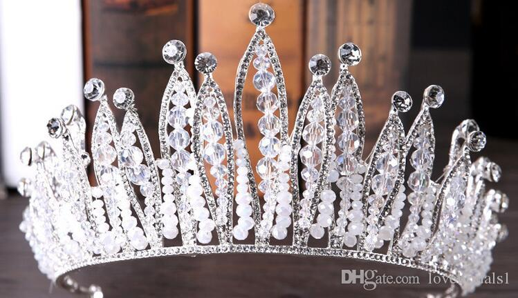 2019 free shipping new bride headpieces Baroque exquisite crown bride grand crown wedding accessories crown hair ornaments