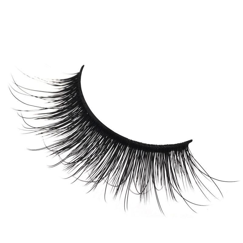 1pairs/set 3D Mink False EyeLashes Natural Extension Handmade Plastic Cotton Stalk Full Strip Lashes For Women Date Makeup Fake Eye Lashes