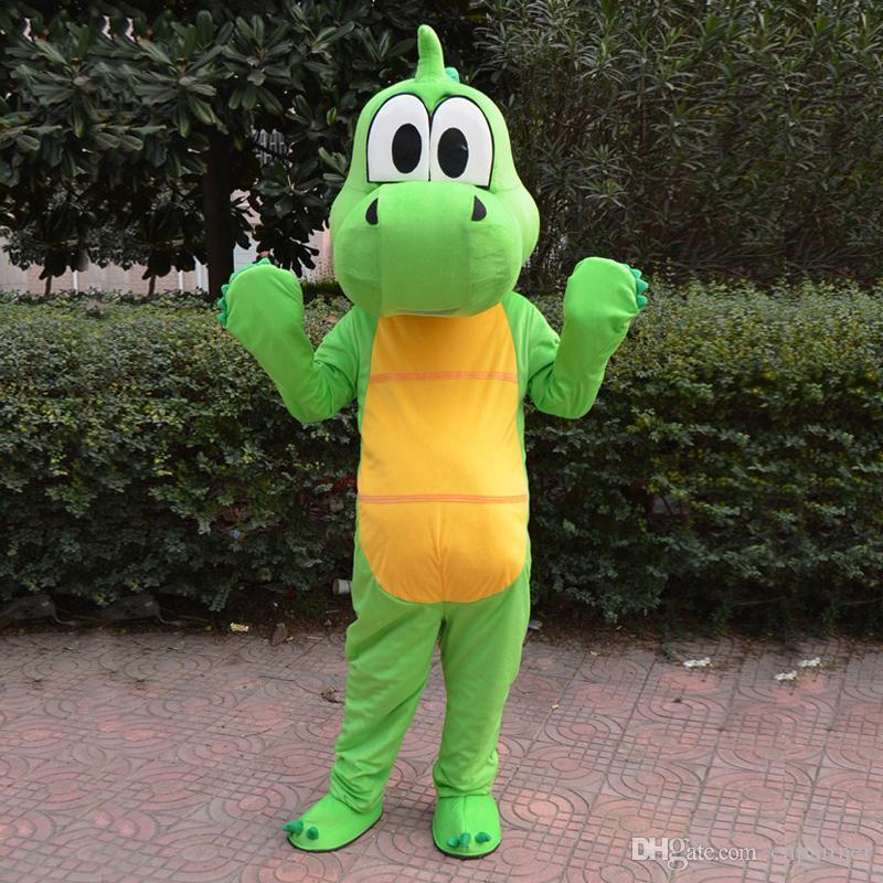 جودة عالية الأخضر التنين ديناصور التميمة حلي الكرتون الملابس الوردي البدلة الكبار الحجم ملابس تنكرية حزب المصنع مباشرة شحن مجاني