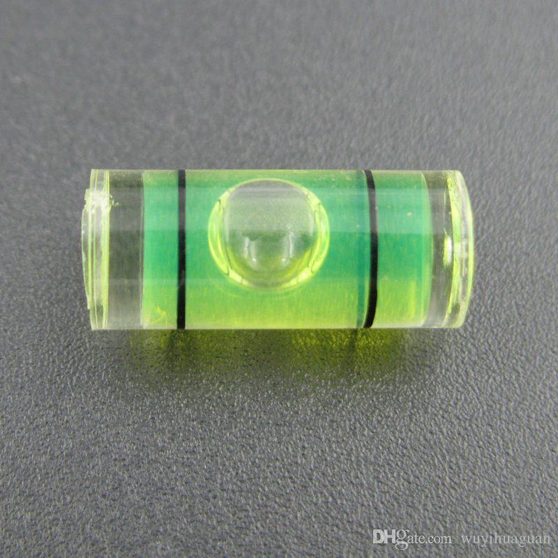 Haccury (25 قطعة / الكثير) 7 * 16 ملم أجزاء أنبوب فقاعة مستوى الروح المستوى البلاستيك