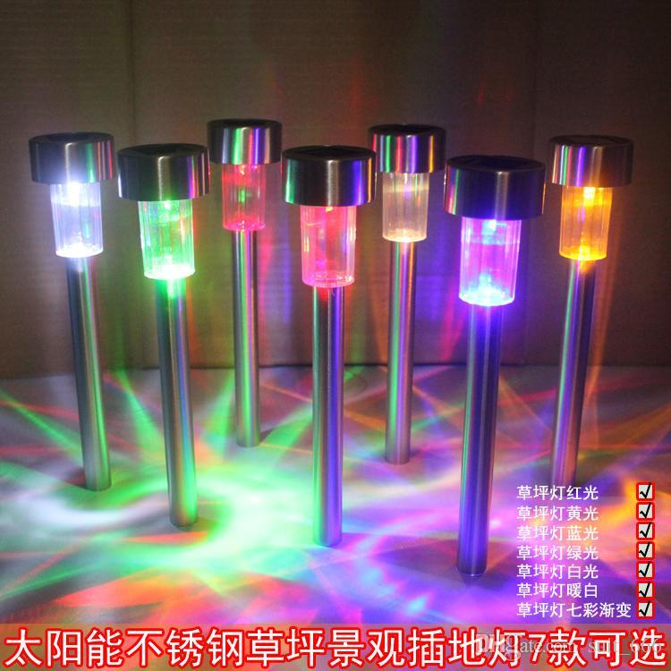 trasporto libero whiilesale inossidabile luce di controllo luci solari LED prato giardino villa villa spina luci multicolor opzionale