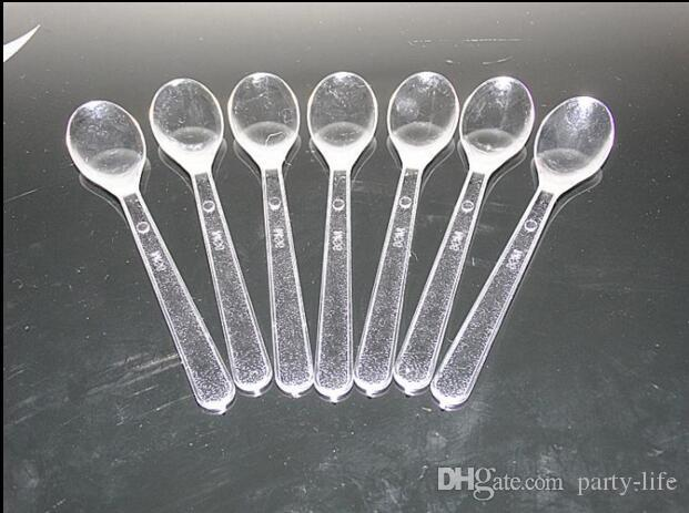2000pcs/lot, Disposable individual packing Cake Ice Cream spoon plastic spoon Tasting spoon