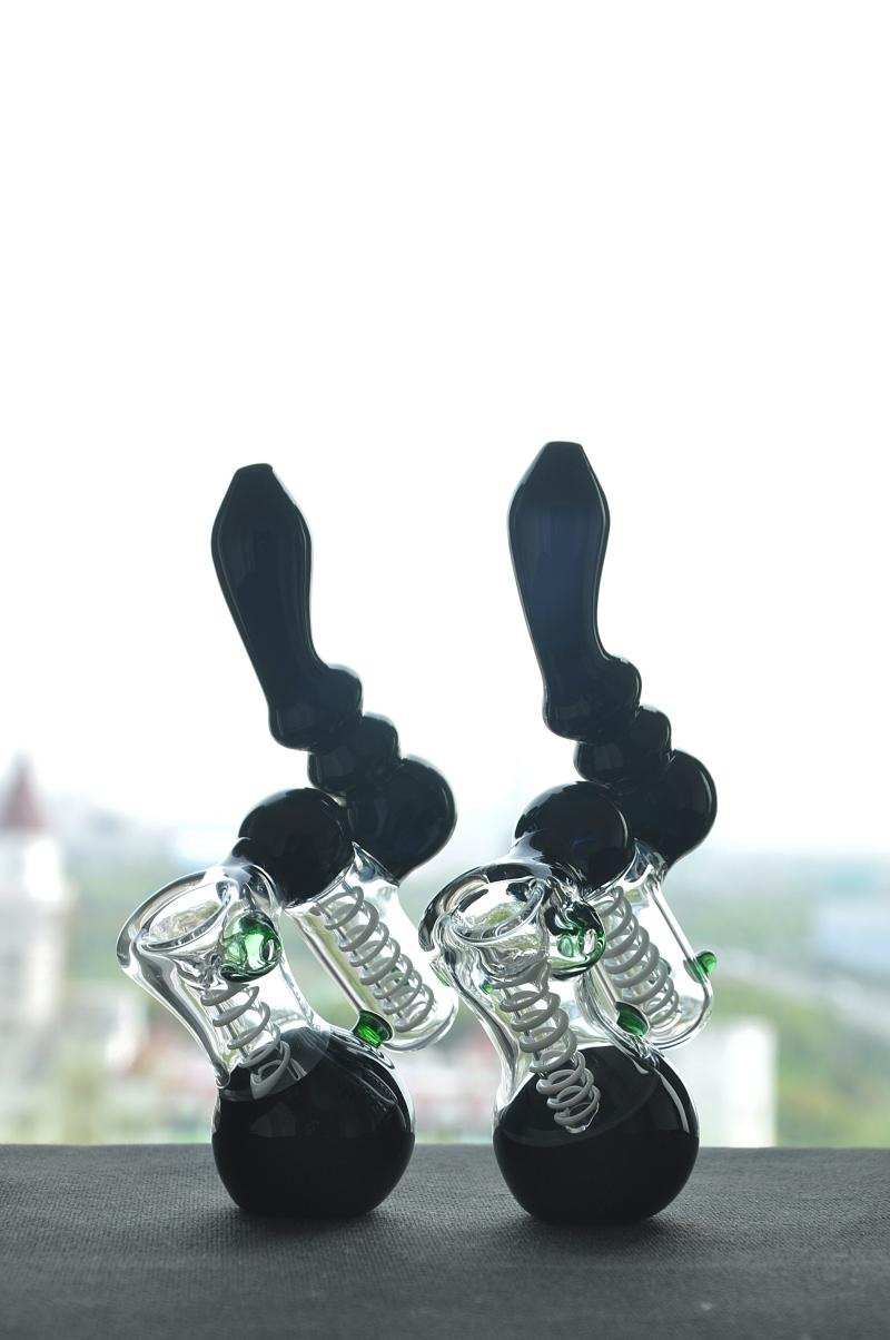 Imagen real Bombilla de vidrio de tubo de cristal negro Tubo de fumar Tubería de agua Glass Bong Envío gratis
