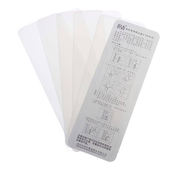 Haute qualité pas cher 5 pcs Nano plastique-acier portes jogging fente picks outil de serrurier KLOM livraison gratuite