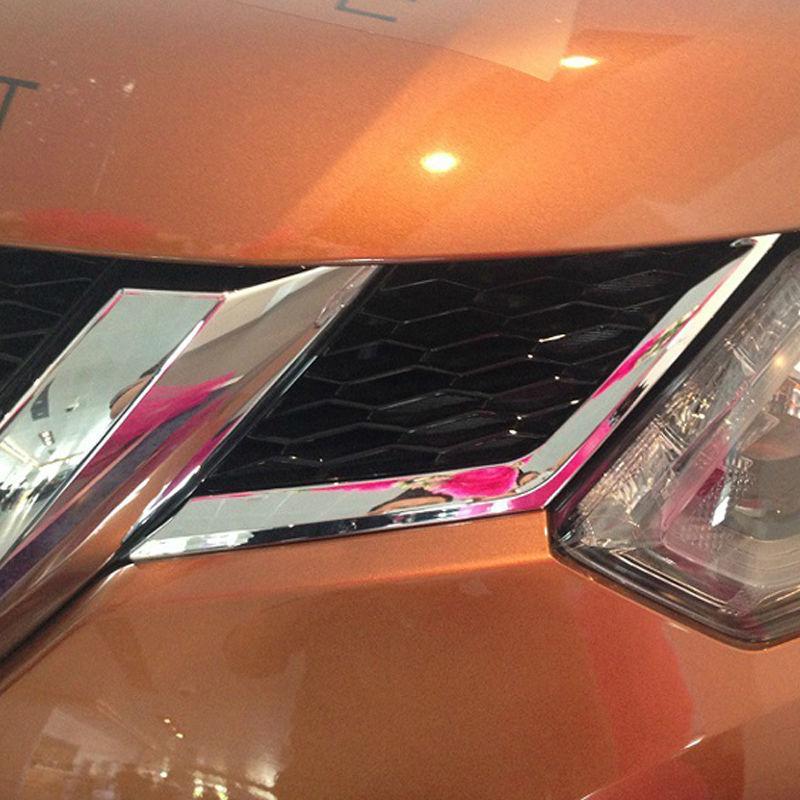 ABS 크롬 프론트 어퍼 그릴 커버 트림, 2014 2015 닛산 X 트레일 X 트레일 XTrail Rogue T32 프론트 그릴 트림 자동차 액세서리