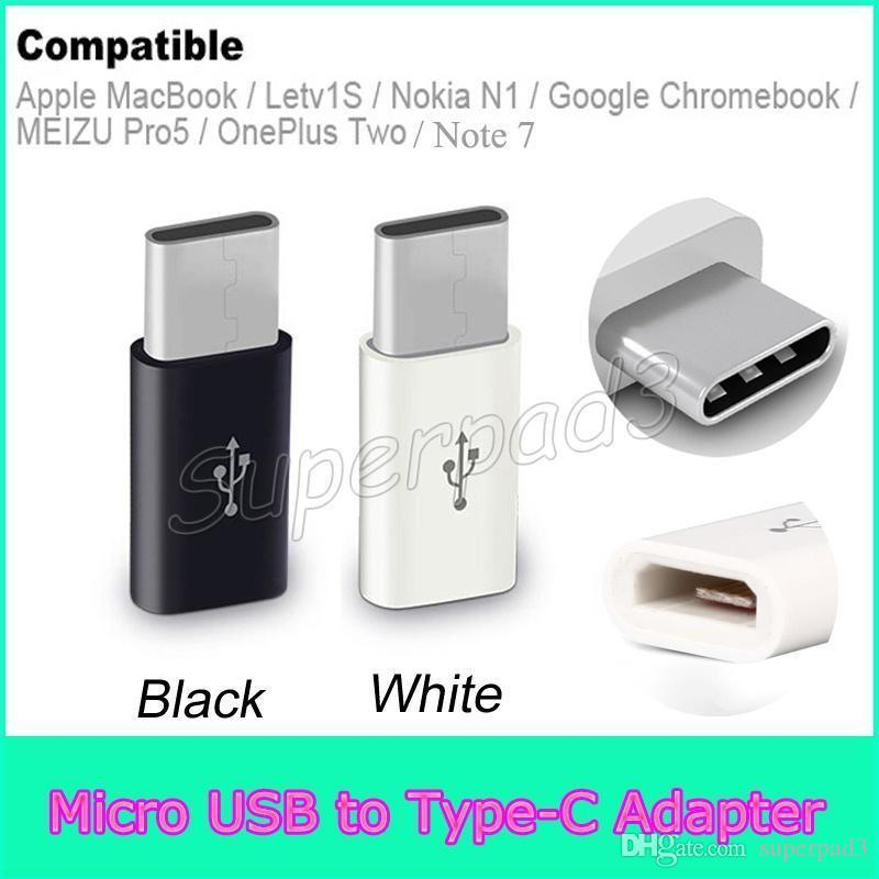 Free Shipping USB 2.0 Type-C Male to Micro USB Female Mini Connector Adapter Type C Data Cable Adapter For Apple MacBook Note7