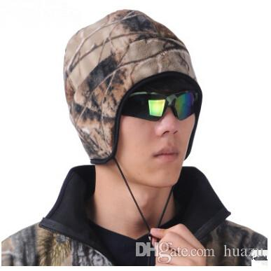 Wholesale-Browning fleece cap ear protector cap hunting cap Camouflage Hat Free Shipping