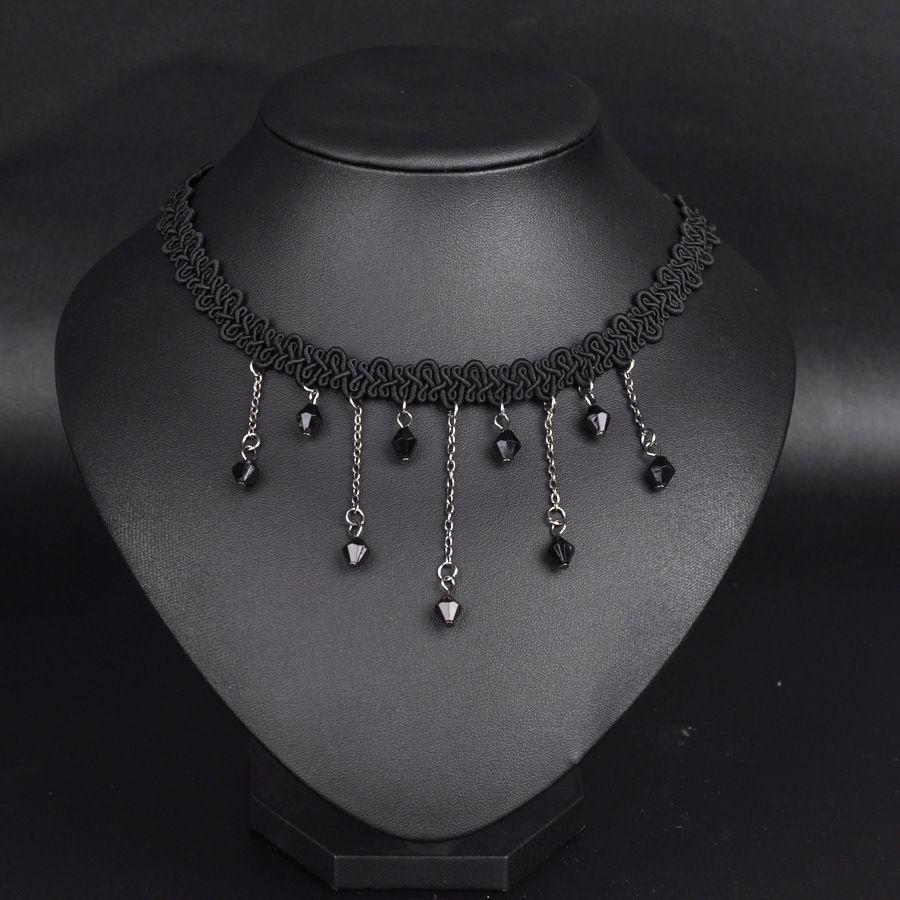 Schnell verkaufend! Japanischen Retro Samt Gürtel Halsband Spitzenkragen Kurze Halskette Lolita Punk Schlüsselbein Kette Halsketten