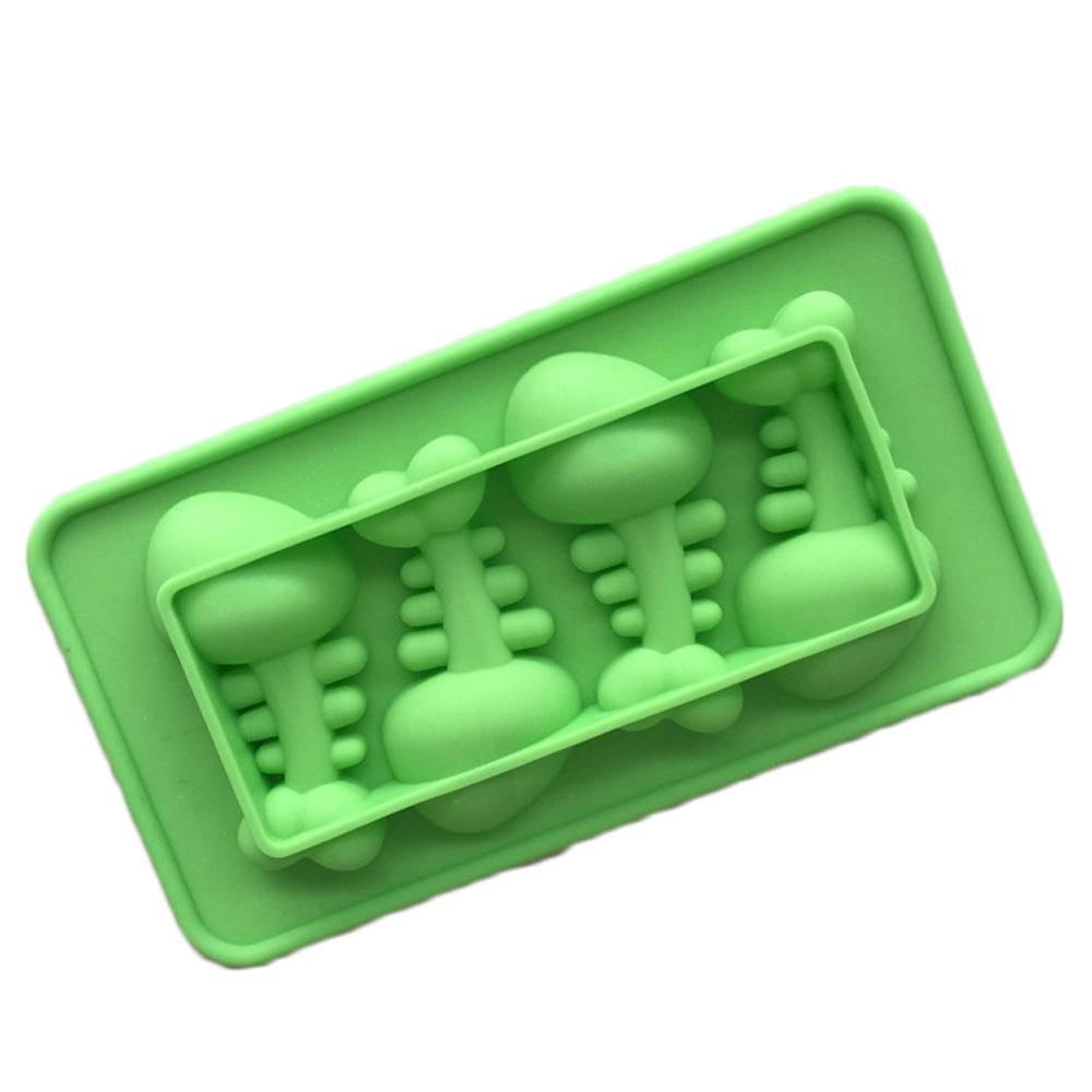 4-cavity Cartoon Fish Bone Silicone Cake Candy Soap Decoration Mold Chocolate Ice cube Tray Free Shipping