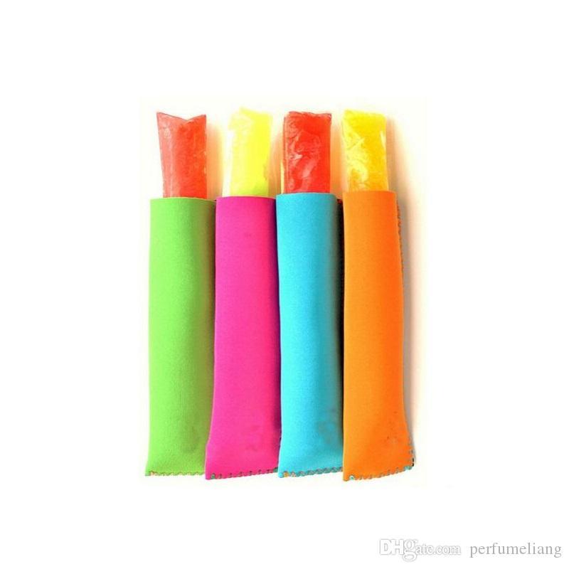 300 قطع بالجملة حاملي المصاصة البوب الجليد الأكمام حاملي الفريزر البوب 15x4.2 سنتيمتر للأطفال الصيف أدوات المطبخ 10 اللون ZA0828