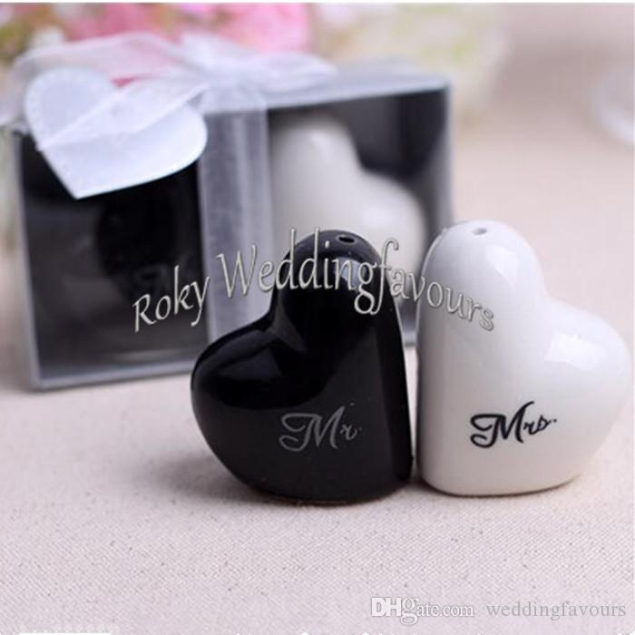 FREE SHIPPING 400pcs=200Sets Great Wedding Favors Bride and Groom Salt and Pepper Shaker Souvenirs Gifts Bridal Shower Decoration Ideas