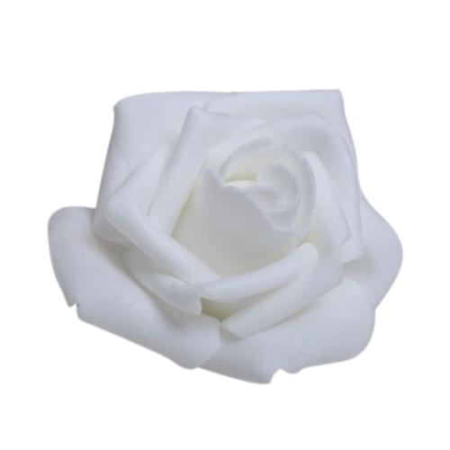 Wholesale- 100PCS Foam Rose Flower Bud Wedding Party Decorations Artificial Flower Diy Craft White