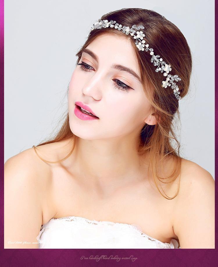 Silver 2016 Bridal Headpiece Cheap Bridal Accessories For Wedding Beads Pearls Wholesale Hot Sale Hairwear Fashion Hair Accessories