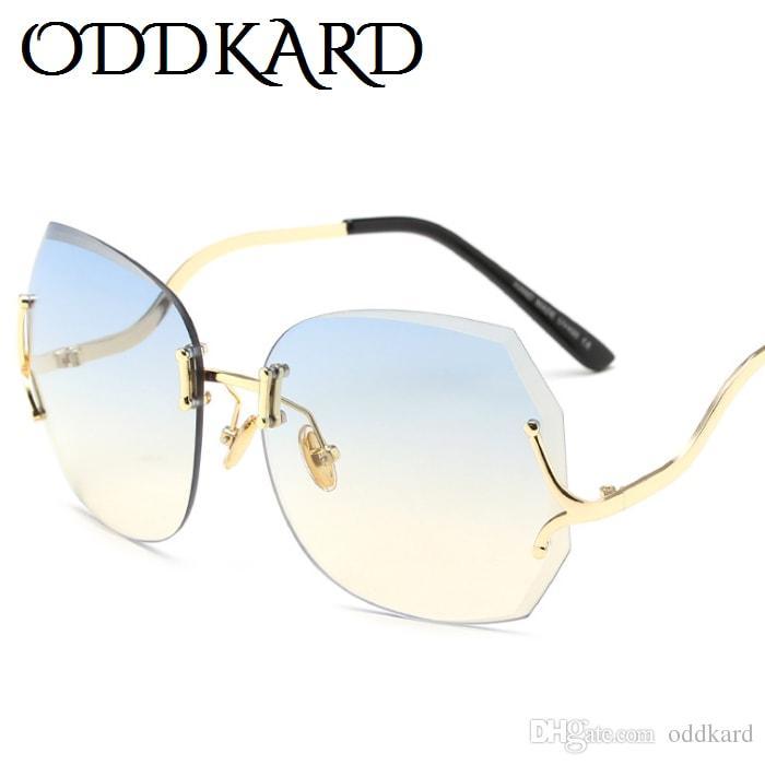Oddkard أنيقة عالية أزياء النظارات الشمسية للرجال والنساء الساخنة العلامة التجارية مصمم بدون شفة فراشة النظارات oculos دي سول uv400