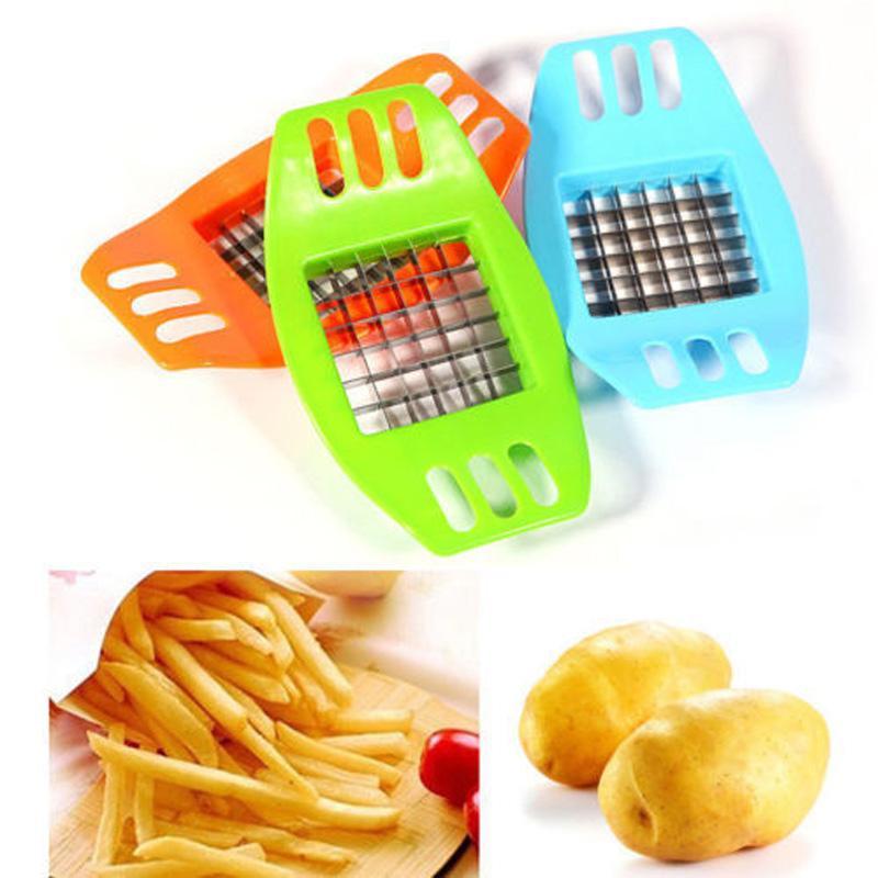 감자 커팅 장치 PVC + 스테인레스 스틸 프렌치 프라이 커터 필러 감자 칩 야채 슬라이서 조리 도구 주방 공급 업체