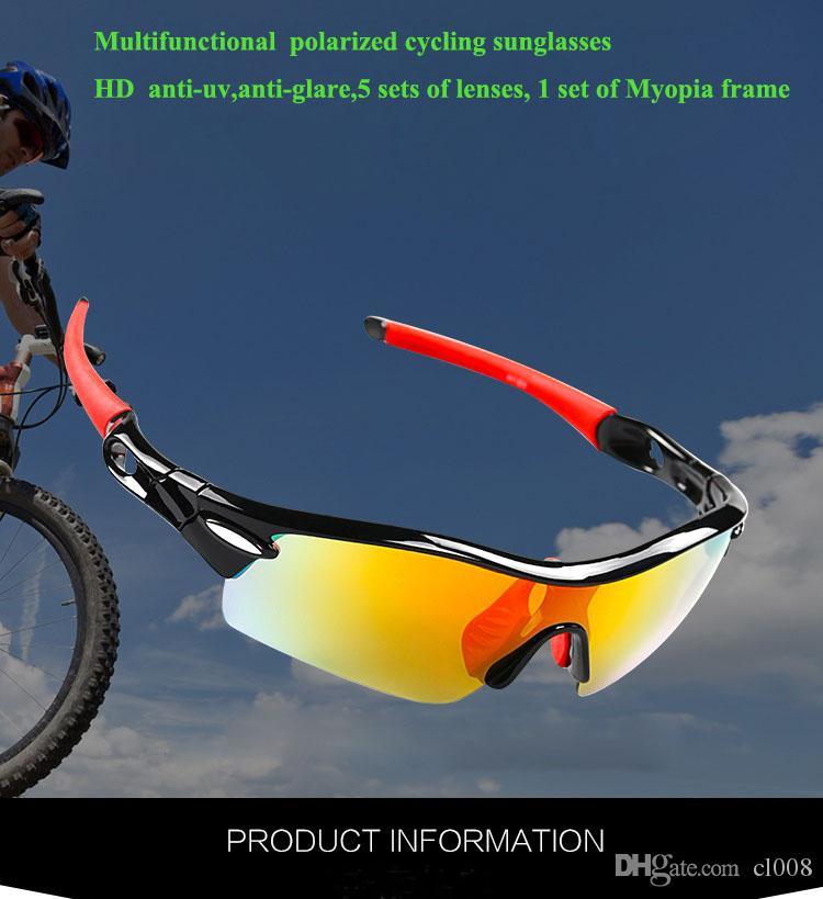 Femmes extérieures Hommes Cyclisme Ensembles de lunettes de soleil Lentilles d'usine Sports Wholesale Lunettes de soleil Vent Lunettes de soleil à l'épreuve du vent 5 et de la RVOJB hors route