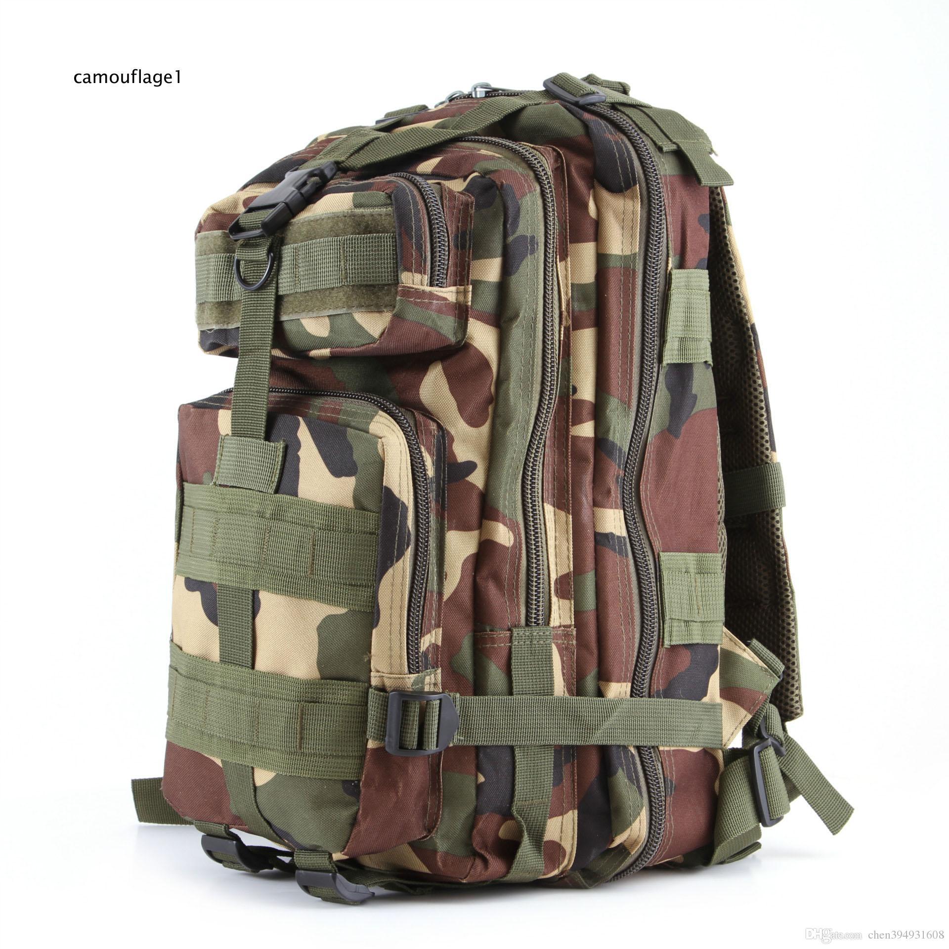 실용적인 인기있는 야외 스포츠 위장 백팩 도보로 패키지를 등반하는 군사 애호가 배낭 어깨 3 p 전술 DHL 무료