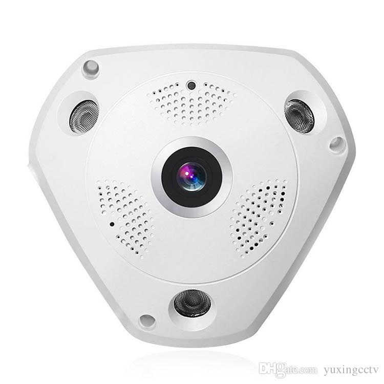 360° Panoramic Wireless IP Camera Audio Video WiFi 3 Megapixel HD Fish-eye Lens Wide Angle Night Vision VR CCTV Home Security System