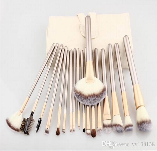 12/18/24 pcs Pincel de maquillaje Cepillo de cepillado sintético Cosméticos profesionales Base de maquillaje Powder Blush Eyeliner Brushes