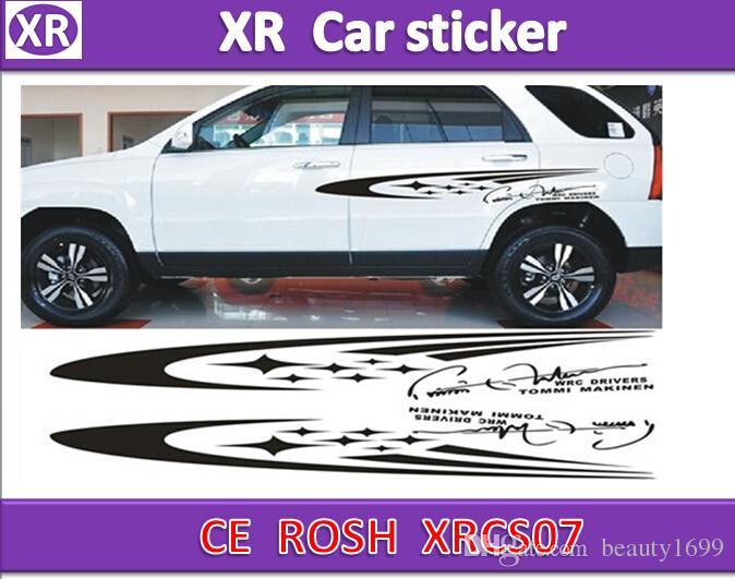 XRCS07 car body sticker 100x15cm(Left/Right) Meteor cartoon Cute Decorative garland stickers personalized Vehicle Car Waistline Black Stick
