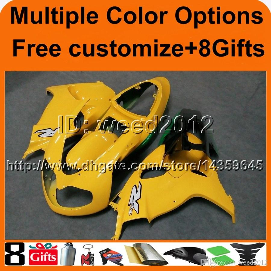 23colors+8Gifts YELLOW TL1000R 98 99 2000 01 02 motorcycle hull Fairing For Suzuki TL 1000R 1998 1999 2000 2001 2002