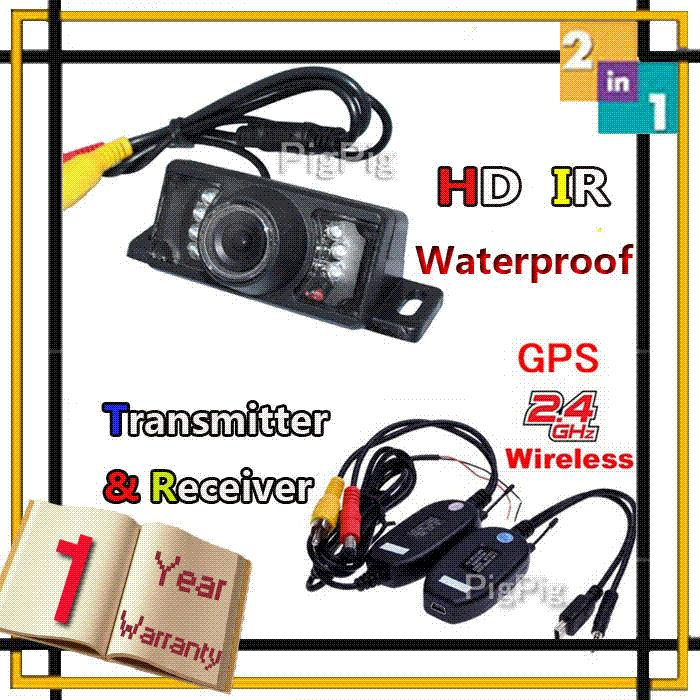 2014 Hot Selling Wireless for Car GPS With 7 LEDs IR Car Rear View Camera Waterproof Reversing Camera Parking Sensor,freeship