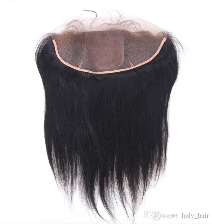 브라질 실크베이스 레이스 정면 13x4 버진 인간 헤어 실크 스트레이트 실크 탑 레이스 정면 클로저 조각과 아기 머리 표백 매듭