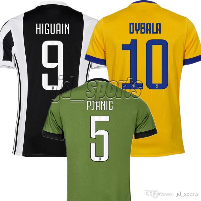 d61abea49 2017-18 Futbol Camisa Juventus Higuain Costa Dybala Pjanic Juve Soccer  Jerseys Football Camisetas Shirt Kit Maillot Serie A