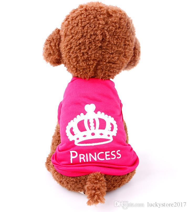 도매 애완 동물 Appareal 의류 강아지 고양이 셔츠 개 조끼 애완 동물 옷 개 천 핑크 조끼