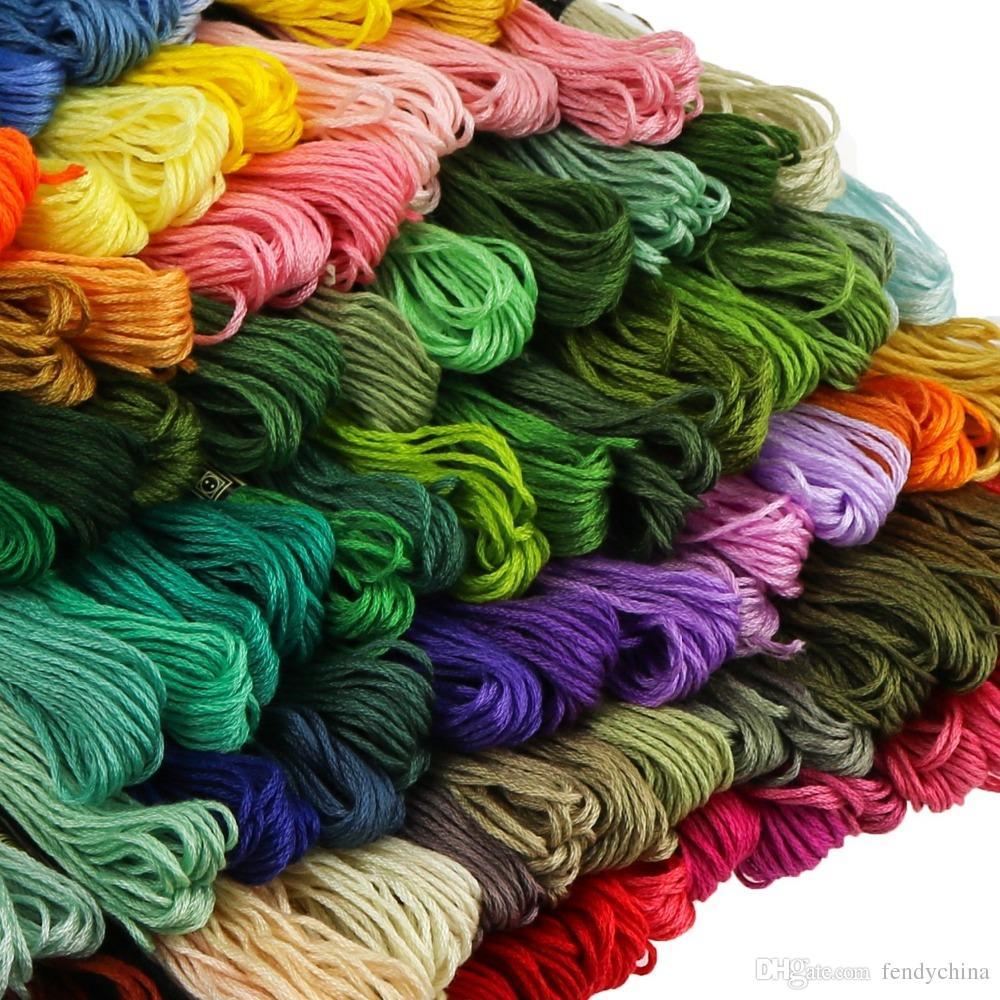 6 X Madejas color hilo de bordar de algodón puntada cruzada//Trenzado//Artesanía Coser