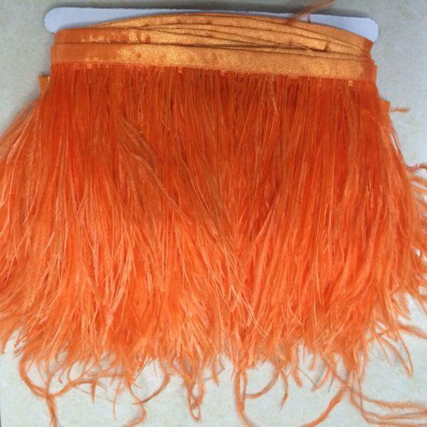 Piuma dello struzzo 10m / lotto molti colori Ostrich Feather Fringe per le piume di struzzo abito da sposa nozze centrotavola decorazione dei vestiti