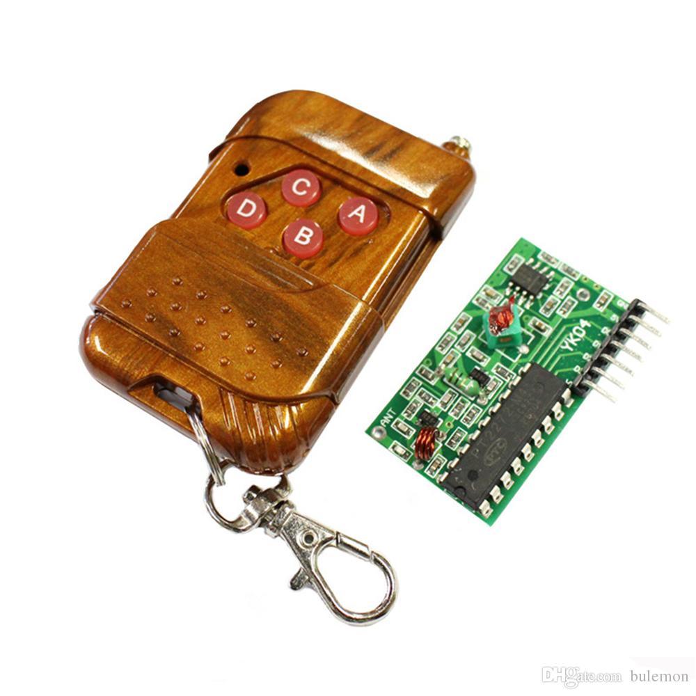 1Set IC 2262/2272 4 CH 315Mhz Key Wireless Remote Control Kits Receiver Module For Arduino