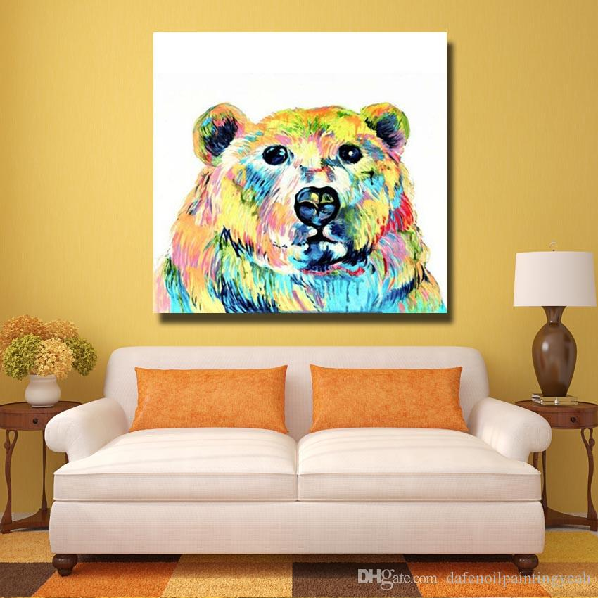 2018 Hand Painted Panda Oil Painting On Canvas Wall Art Home ...