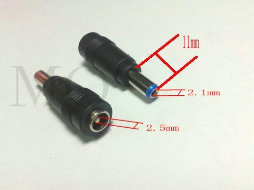 Connettore per adattatore maschio da 5,5 mm x 2,1 mm a femmina in rame DC Power 5.5mmx2.5mm