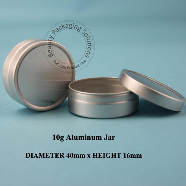 En gros 100pcs / lot 10g Crème En Aluminium Jar 10ml Emballage Petites Femmes Costmetic Récipient d'Échantillon 1 / 3OZ Pot Masque Facial Flacon