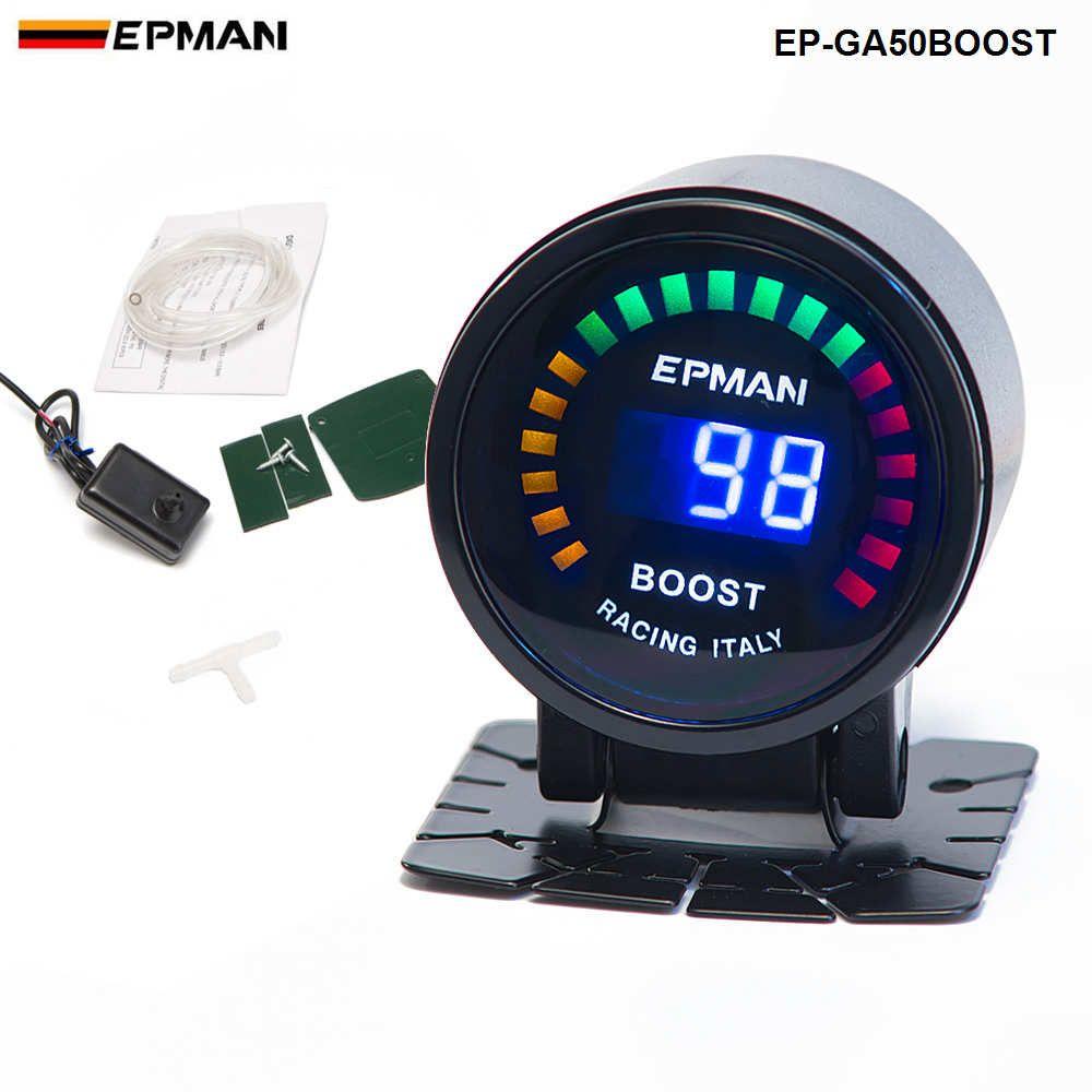 "Tansky -epman سباق جديد 2 ""52 ملليمتر اللون الرقمي التناظرية الصمام psi / بار توربو دفعة قياس متر مع استشعار مراقب سباق السباق EP-GA50BOOST"