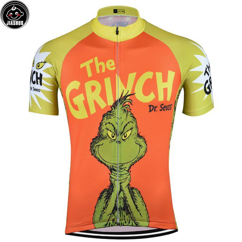 Karikatür Komik Klasik Dağ Yol YARIŞI Bisiklet Takımı Pro Cycling Jersey / Gömlek Tops Giyim Nefes Özelleştirilmiş JIASHUO